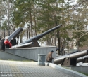 Пушки разных типов у краеведческого музея