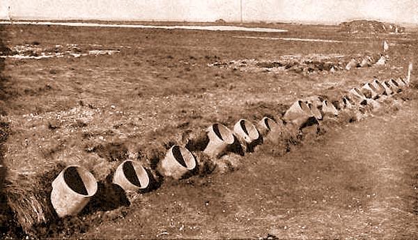 Газомёты Ливенса на позиции