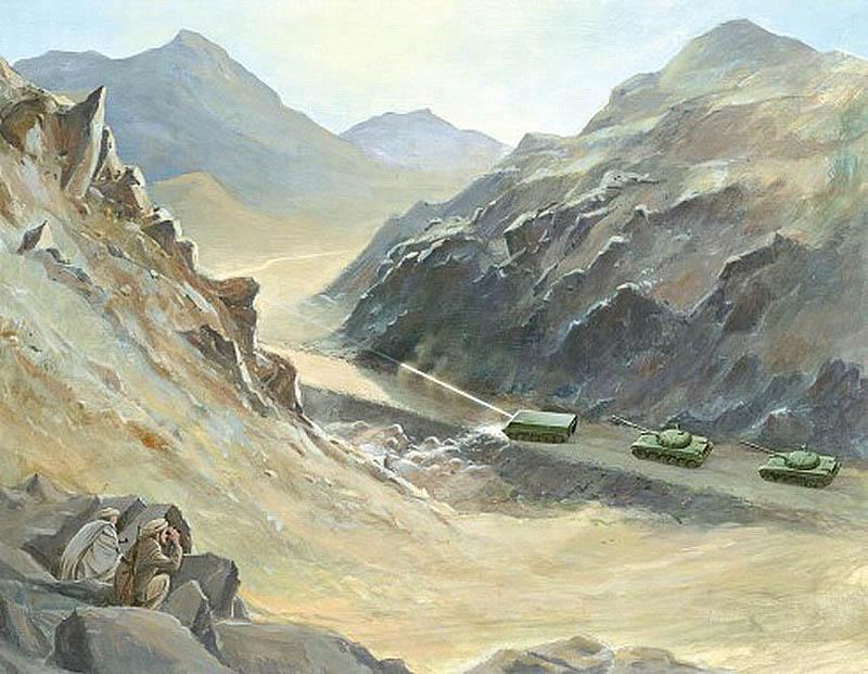 Так представляли себе на западе советский лазерный комплекс. Рисунок из журнала «Soviet Military Power»