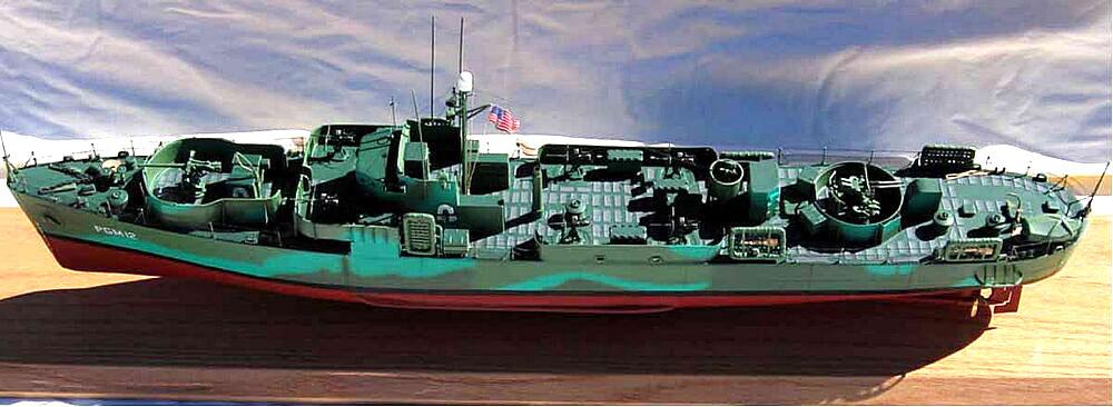 Макет канонерской лодки PGM