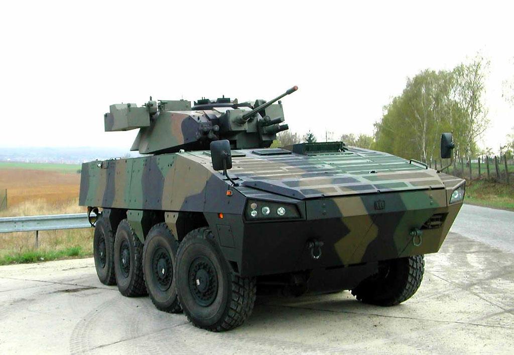 Patria AMV в варианте БМП с башней Oto Melara HITFIST
