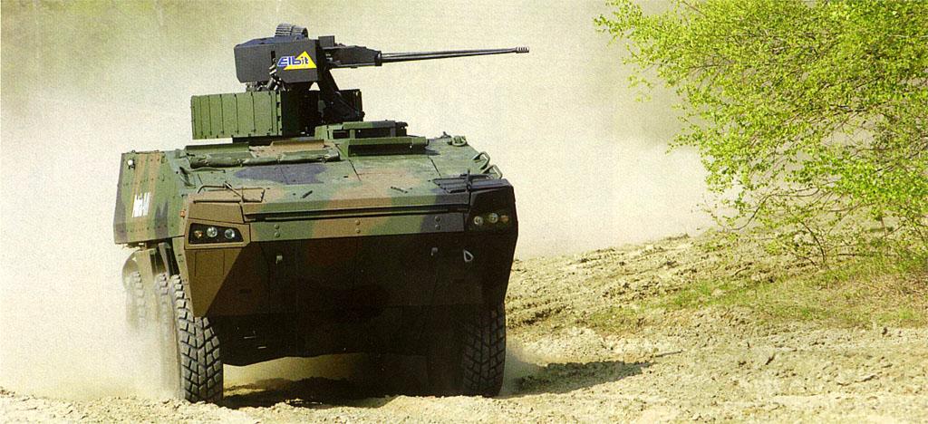 Вариант БМП на шасси Patria AMV с комплексом вооружения израильской компании Elbit