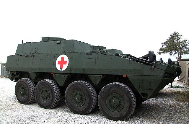 Patria AMV в варианте санитарно-эвакуационной машины
