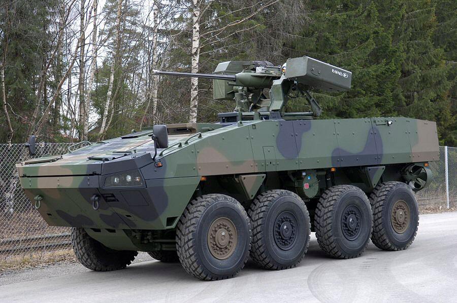 Patria AMV с комплексом вооружения израильской компании Rafael