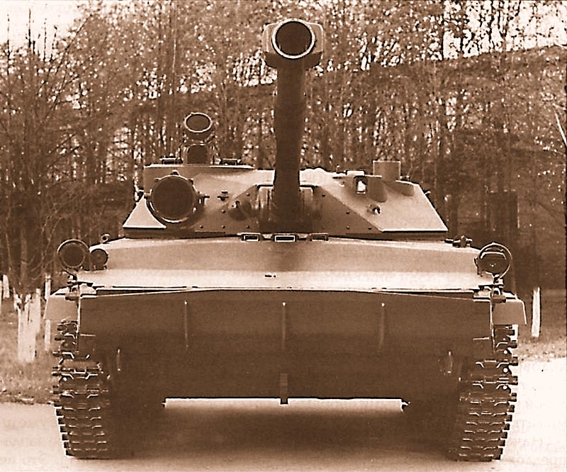 Опытный легкий танк «объект 934» на испытаниях