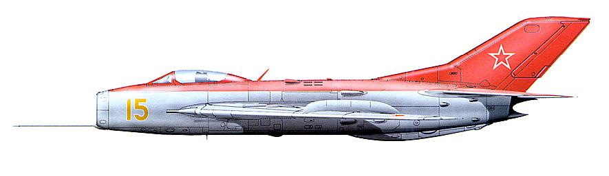 МиГ-19 из пилотажной группы генерал-полковника Е.Я.Савицкого, конец 1950-х гг.