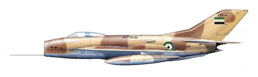 МиГ-19С сирийских ВВС, 1968 г.