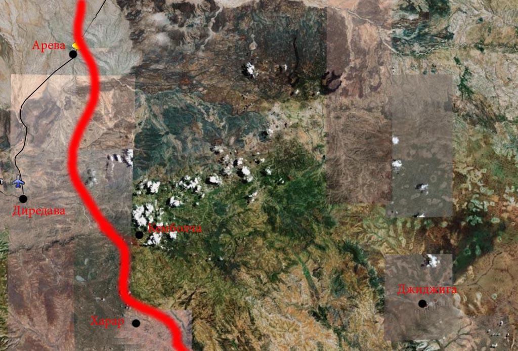 Линия фронта в декабре 1977 года