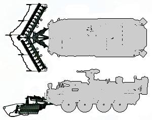 Размещение трала Surface Mine Plow на машине Stryker ESV