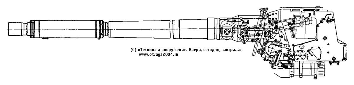 115-мм гладкоствольная танковая пушка У-5ТС (2А20)