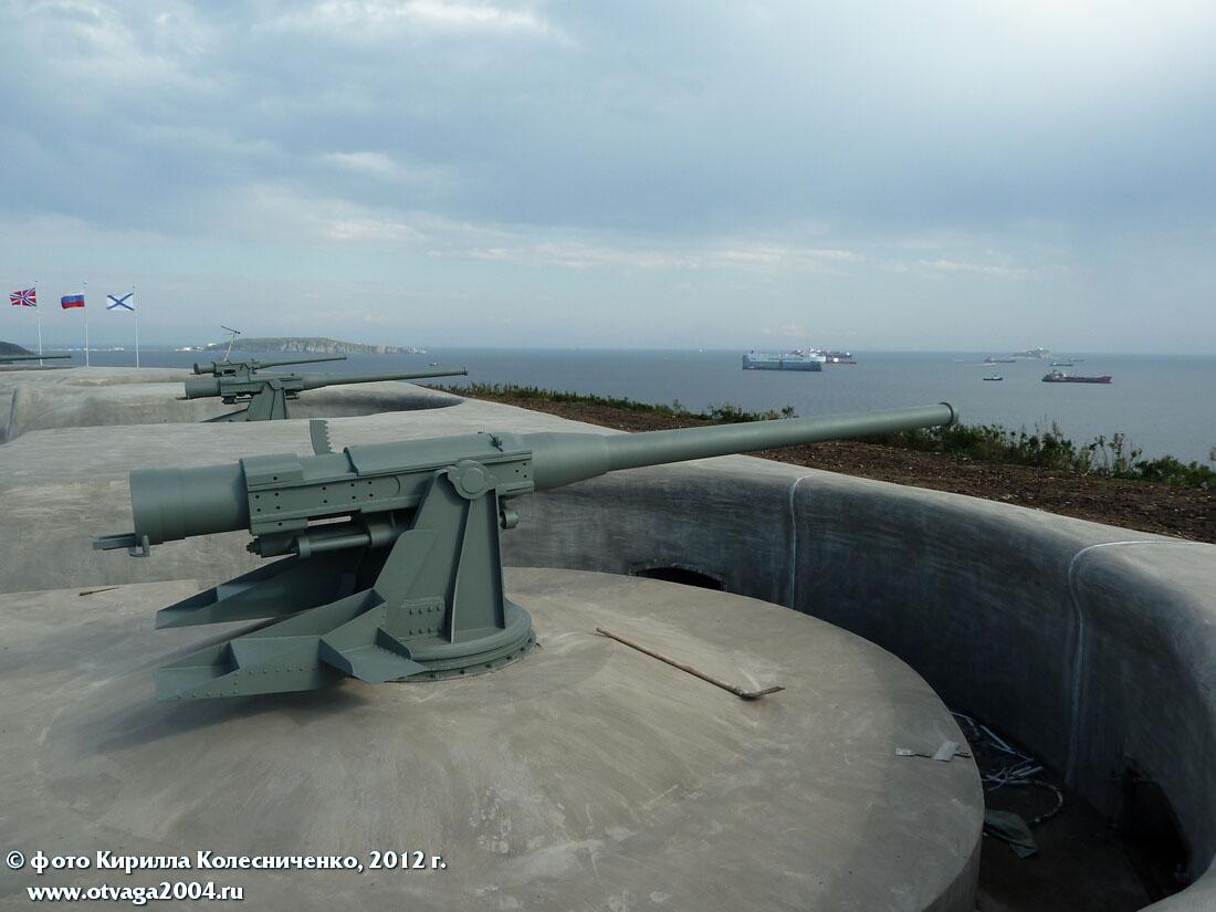 Общий вид на орудия Новосильцевской батареи