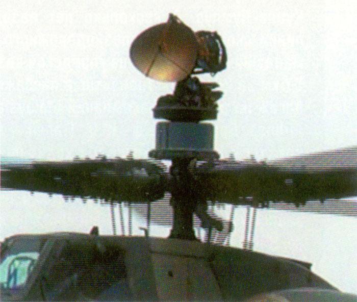 Фото 1. РЛС ОАО «ГРПЗ» на вертолёте Ми-28Н