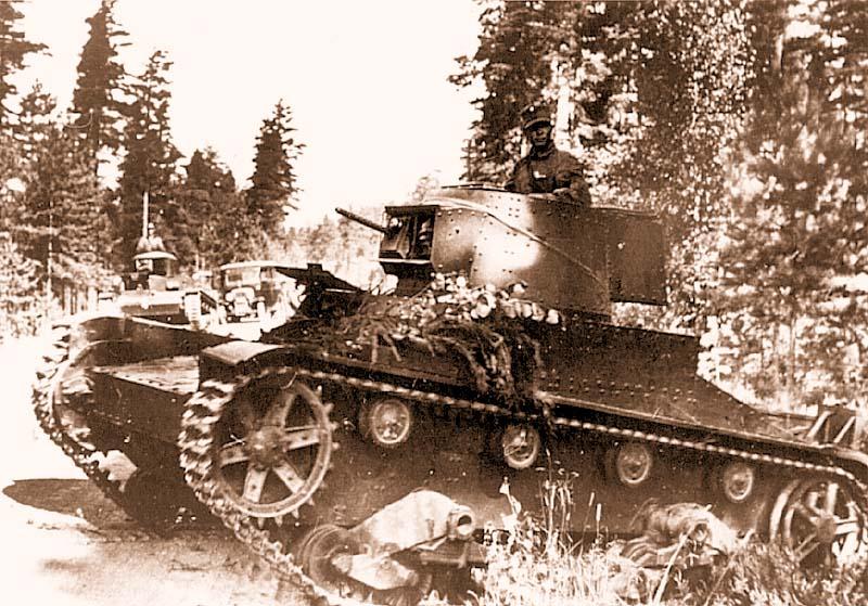 Танк «Виккерс» Мк Е. мод.F выпуска 1939 года Финской армии еще без штатного вооружения