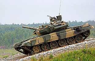 Танк Т-90С на боевых стрельбах и показательном маневрировании (ГАЛЕРЕЯ)