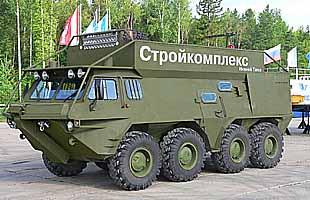 Плавающий вездеходный автобус ГАЗ-59037А на базе БТР-80 (ГАЛЕРЕЯ)