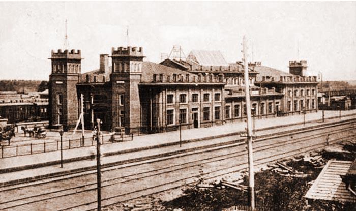 Железнодорожный вокзал станции Орша-Центральная. Фото 1941 года
