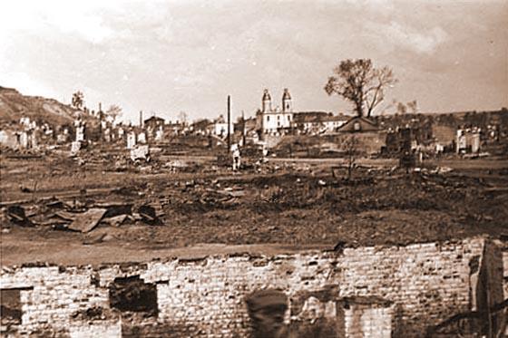 Улицы города Орша после пожара 12-13 июля 1941 года