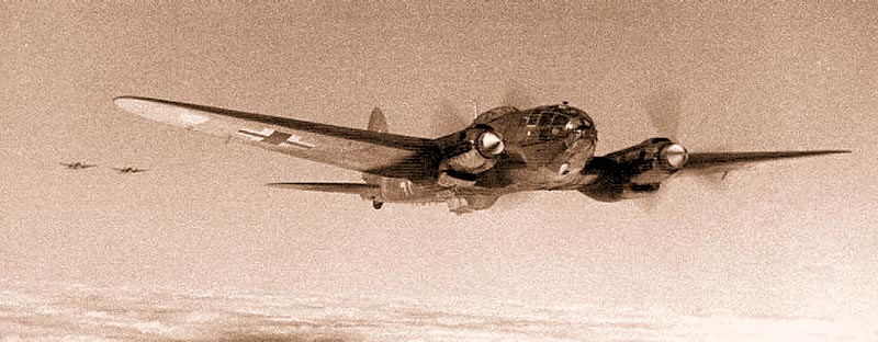 Немецкий бомбардировщик «Хейнкель» He-111