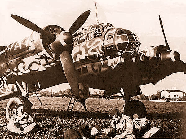 Немецкий бомбардировщик «Юнкерс» Ju-88