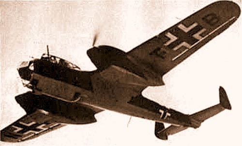 Немецкий бомбардировщик «Дорнье» Do-215
