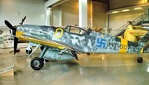 Немецкий истребитель «Мессершмитт» Bf-109E