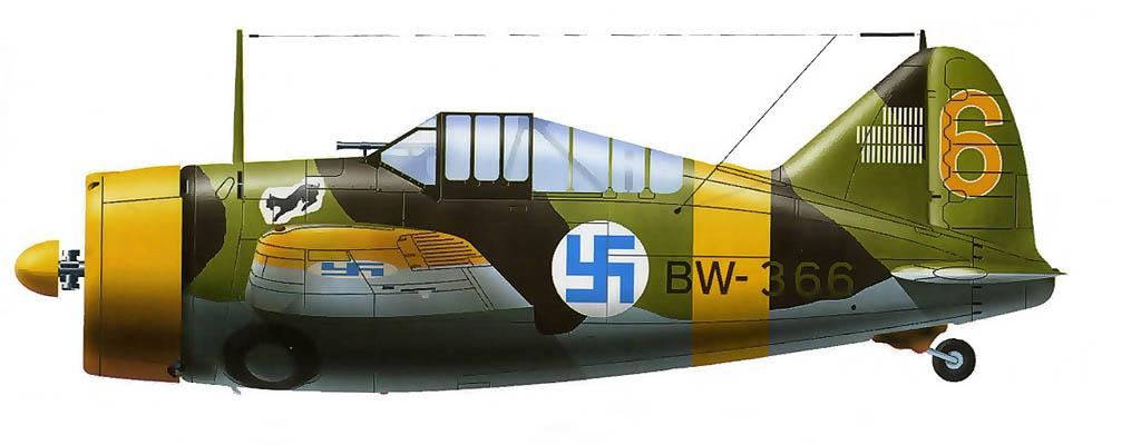 В-239 из LeLv24 ВВС Финляндии. Таранен 10.11.43 л-том В.И. Бородиным из 13-го иап ВВС КБФ
