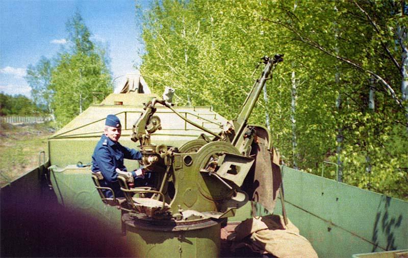 Тумбовая зенитная установка ЗУ-23 с круговым обстрелом