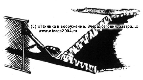 Вариант установки сеточного экрана на лобовом листе корпуса танка Т-54
