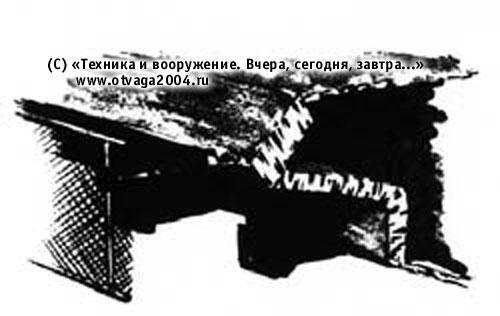 Вариант установки бортового сеточного экрана на танке Т-10