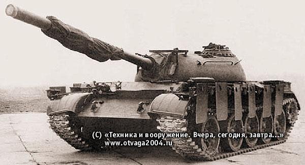Танк Т-55 с ЗЭТ-1 (ЗЭТ-1 в походном положении)