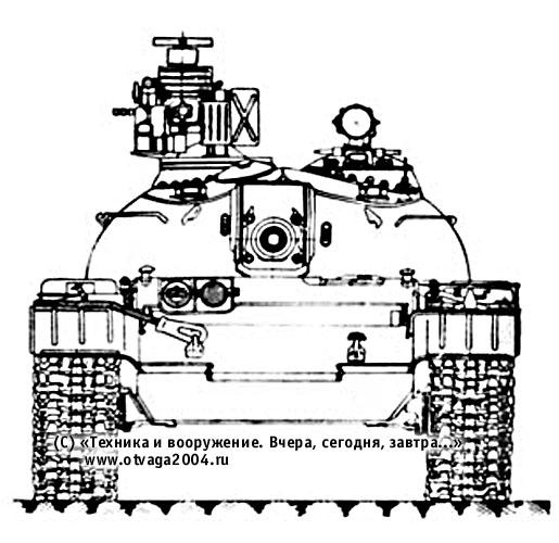 Установка комплекса активной противоракетной защиты «Оплот-МО» на танке Т-55
