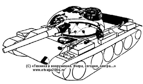 Установка надбоя и подбоя на танке Т-55А с усиленной противорадиационной защитой