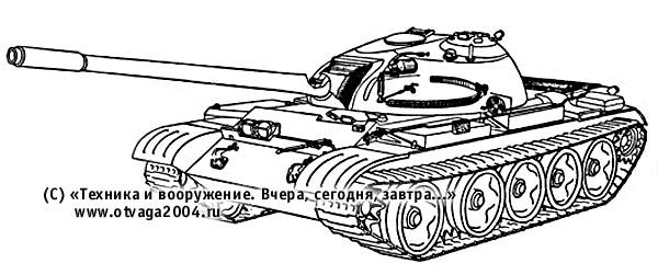 Размещение оборудования системы противоатомной защиты в танке Т-55