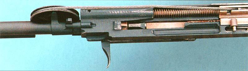 Вид снизу на стреляющий агрегат