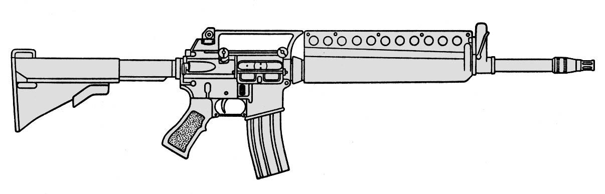 Образец фирмы Colt на базе М16А2