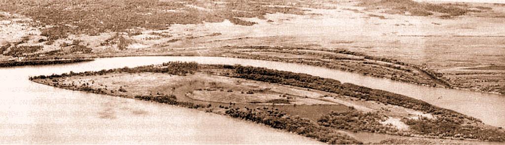 Панорама острова Даманский (снимок с вертолета)