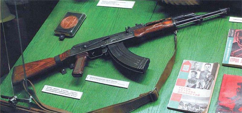 АК-47 рядового В.Изотова. Этот автомат стрелял на Даманском...