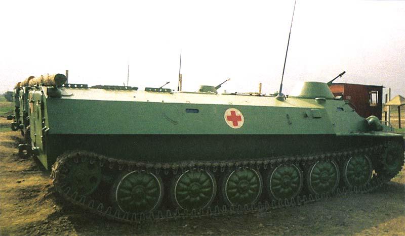 МТ-ЛБ санитарной роты 71 мсп 42 мсд. Чечня, июль 2000 г.