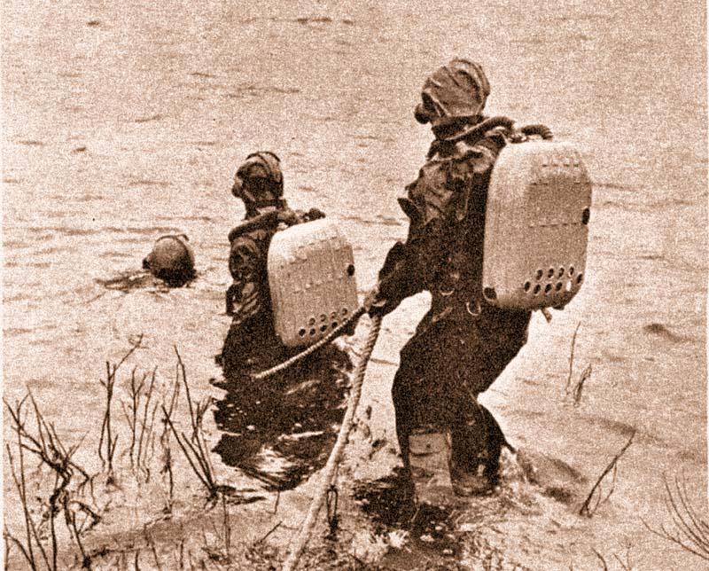 Разведка водной преграды. 1964 г.