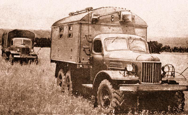 Полноприводный автомобиль ЗИЛ-157 широко применялся в Советской армии