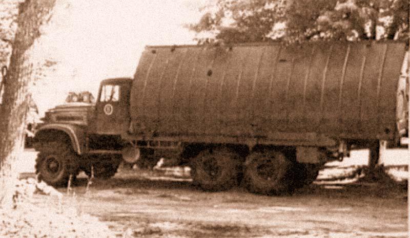 Понтонный автомобиль с речным звеном парка ПМП