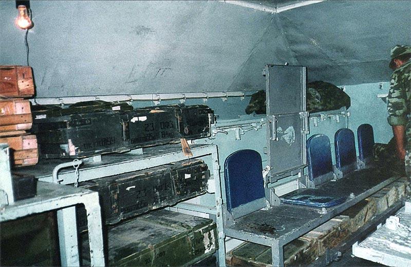 Часть внутреннего интерьера рубки бронеплощадки СП «Терек»