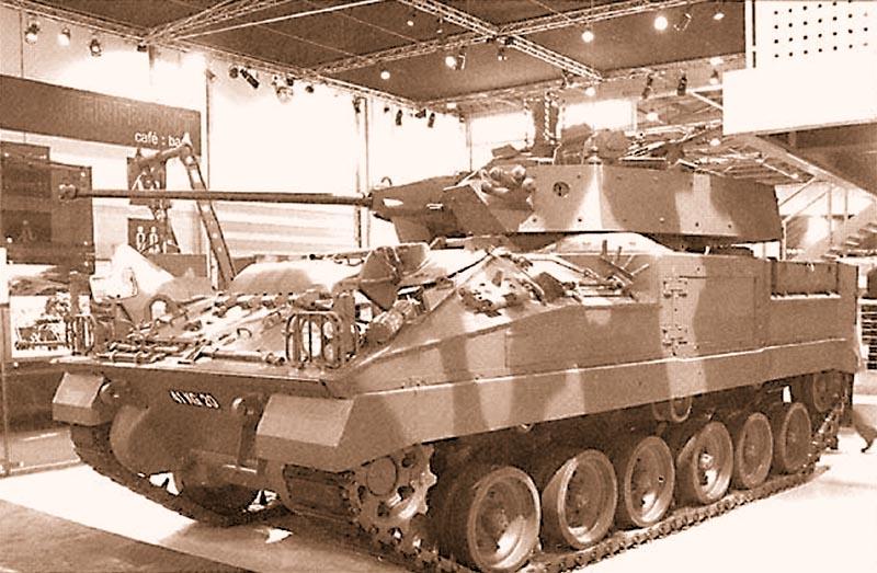 Опытный образец британской БМП «Уорриор» с 40-мм автоматической пушкой