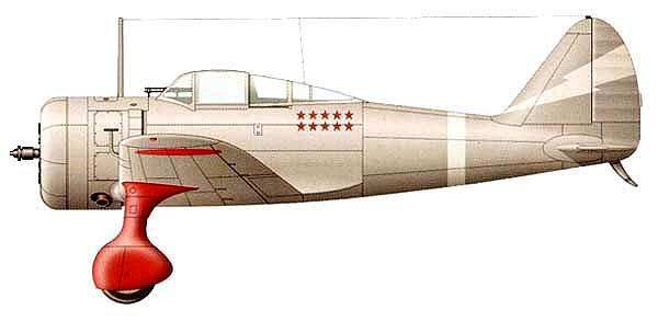 Японский истребитель Ki-27. Халхин-Гол, июнь 1939 г.