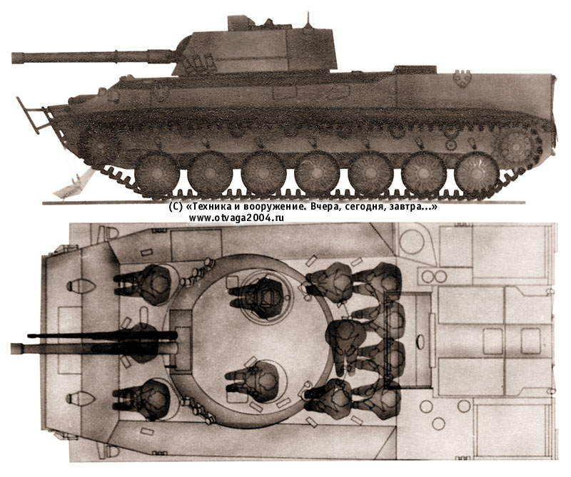 Боевая машина десанта с повышенными характеристиками по вооружению и защите на базе БМД «Объект 950» (проект)