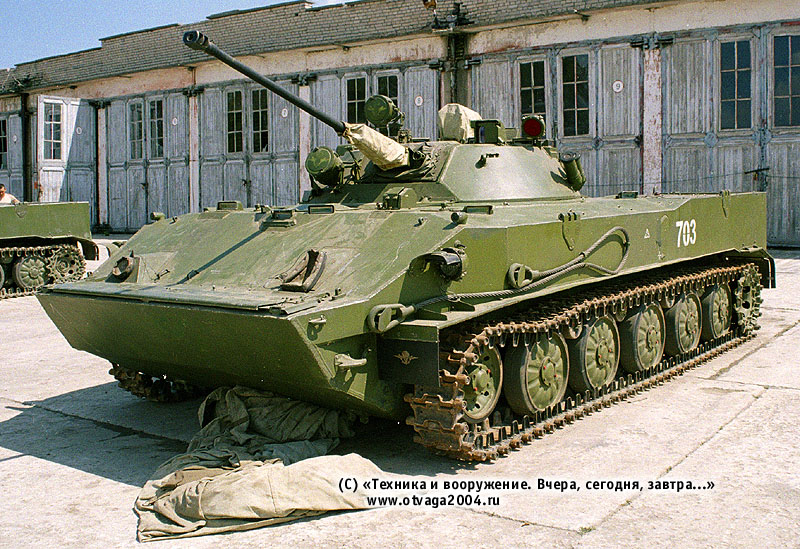 БМД-3, установленная на минимальный клиренс