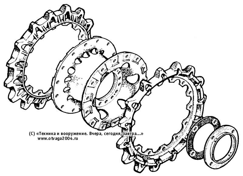 Конструкция ведущего колеса