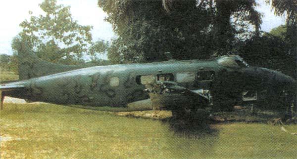 Биафрийский «Доув» использовался для патрулирования побережья, пока не был выведен из строя, столкнувшись на рулежке с автомобилем