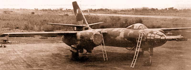 Ил-28 нигерийских ВВС, аэродром Макурди, 1968 г.