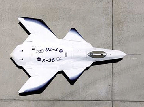 Рис. 3. Масштабная модель Х-36 прототипа малозаметного дневного ударного истребителя